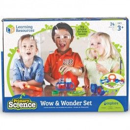 Wow & Wonder Preschool Science Kit - Educational Toys Planet. Great gift for 3 years old child. Explore colors, magnets, bubbles and more with the fun science tools from this Primary Science set for beginners. Develops Skills - colors, experimenting skills, manipulative skills, science, magnets, observation skills. #toys #learning #educational #gifts #child https://www.educationaltoysplanet.com/color-mixing-preschool-science-kit.html