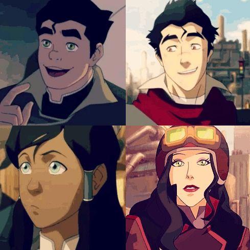Bolin, Mako, Korra and Asami