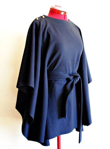 Navy wool Carnaby cape.  http://www.handmakersfactory.com.au/Blog/tabid/222/articleType/ArticleView/articleId/1654/The-Carnaby-Cape-Sewalong--The-finished-cape.aspx