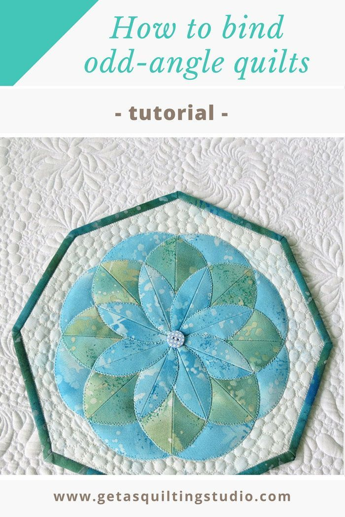 Binding quilts with odd angles- a tutorial