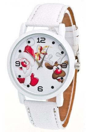 Kup mój przedmiot na #vintedpl http://www.vinted.pl/akcesoria/bizuteria/15990238-zegarek-na-swieta-z-mikolajem-i-reniferem