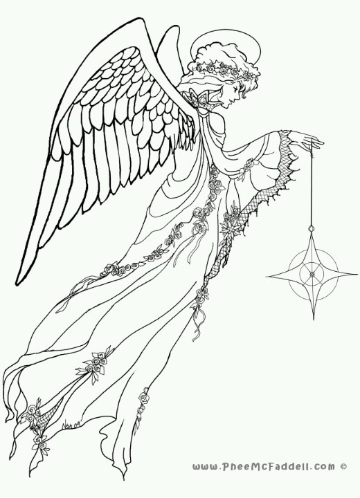 Phee McFaddell Artist love her art free coloring page .