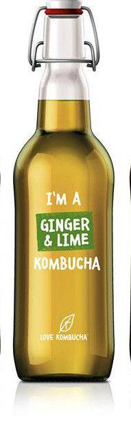 I'm a ginger and lime organic Kombucha