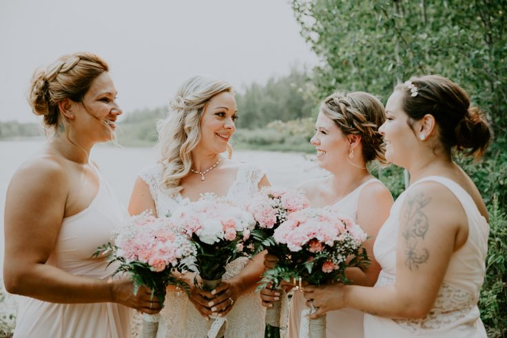 Pink bridesmaid colors