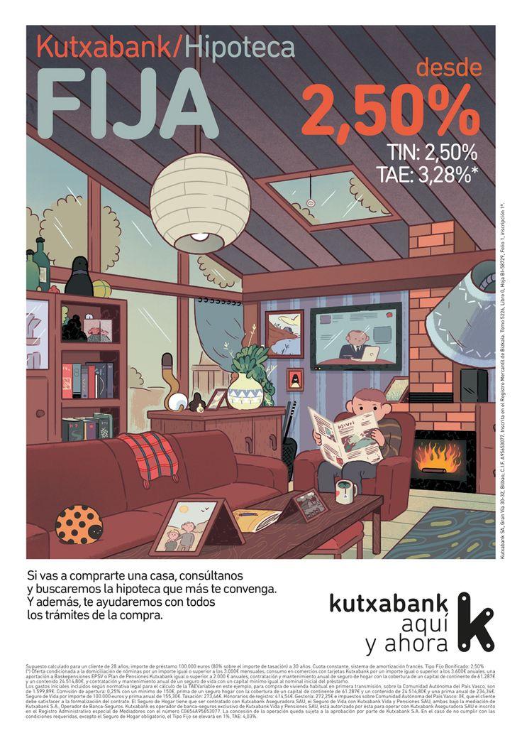"""Campaña nacional """"Hipotecas"""" para Kutxabank. Hipoteca Fija."""
