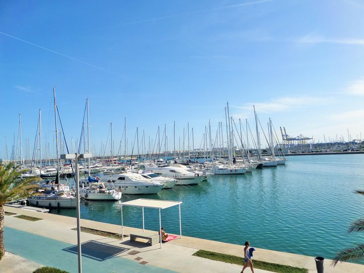 Port of Valencia, Valencia. The largest port in Spain. http://www.cyclefiesta.com/cycling-holidays/valencia.htm