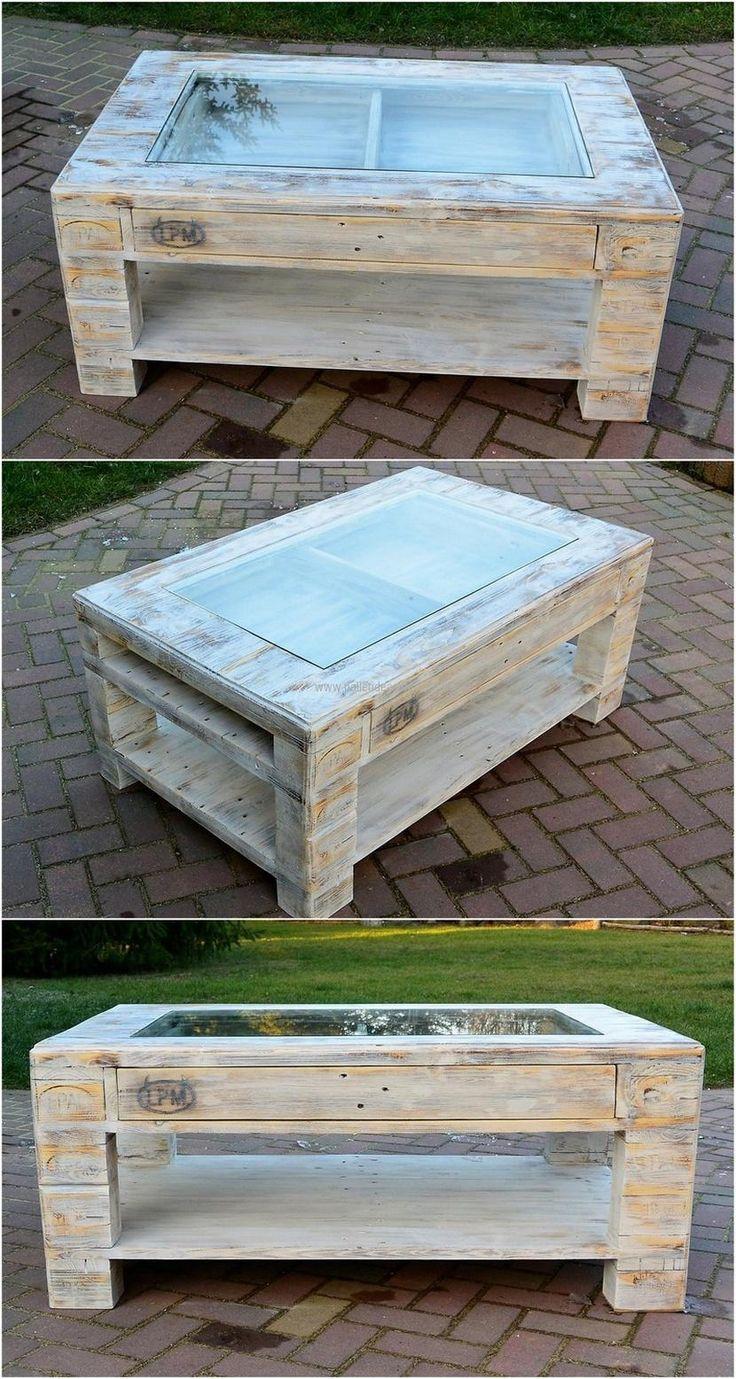 25 best pallet tables ideas on pinterest pallet coffee. Black Bedroom Furniture Sets. Home Design Ideas
