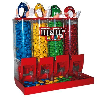 Remember Mom in her special day and give her this M&M candy dispenser filled with M&M candies in all four colors. #Mom #M&M #dispenser