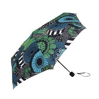 Det herlige Siirtolapuutarha-paraplyen fra Marimekko har kompakt størrelse som er perfekt å alltid ha med seg i vesken eller i jakkelommen. Når det begynner å regne er du klar! Siirtolapuutarha-mønsteret er designet av Maija Louekari og er en elsket klassiker som aldri blir umoderne. Beskytt deg med stil!