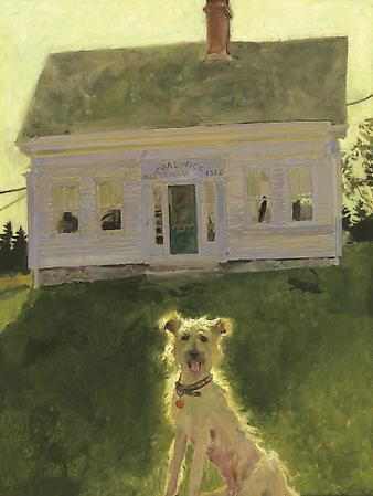 Jamie Wyeth (b. 1946)  1822 Chadwick House, 2007  Combined mediums on toned board   24 x 18 inches  Signed lower left: J. Wyeth      Image