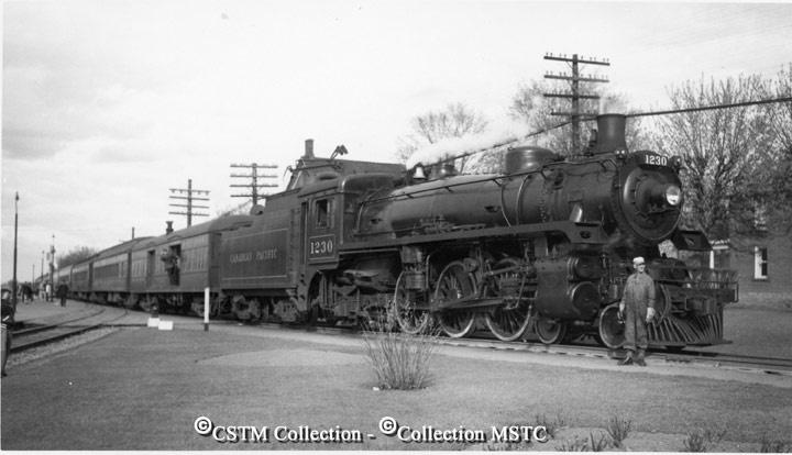 Ottawa-Toronto pool train at Carleton Place, Ontario. June 1951