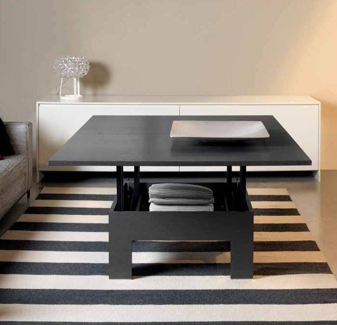 62 best images about immo nouveaux achats d co on for Table basse bois relevable
