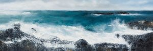 Mark Spray When she rises in the morning Oil and mixed media on canvas 40x120cm
