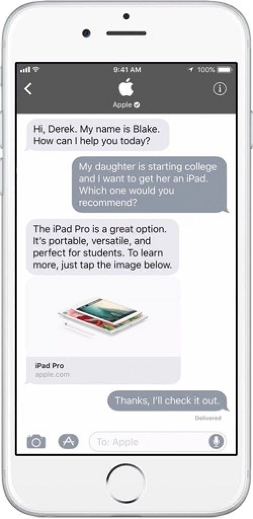 iOS 11 to Bring 'Business Chat' to Apple's Messages App  #RelatedRoundup:iOS11 #news