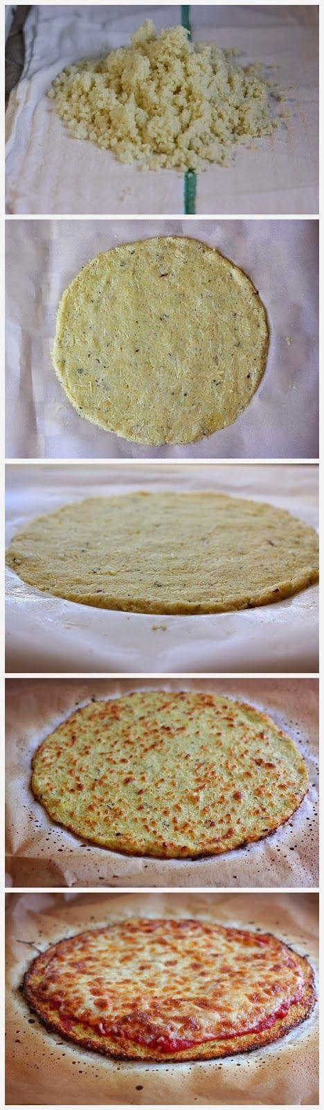 Pizza sans gluten à la pate de chou-fleur