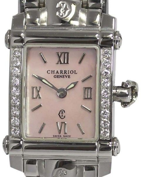 Philippe Charriol Colvmbvs CCSTRD Stainless Steel wDiamond Quartz 18mm Womens Watch