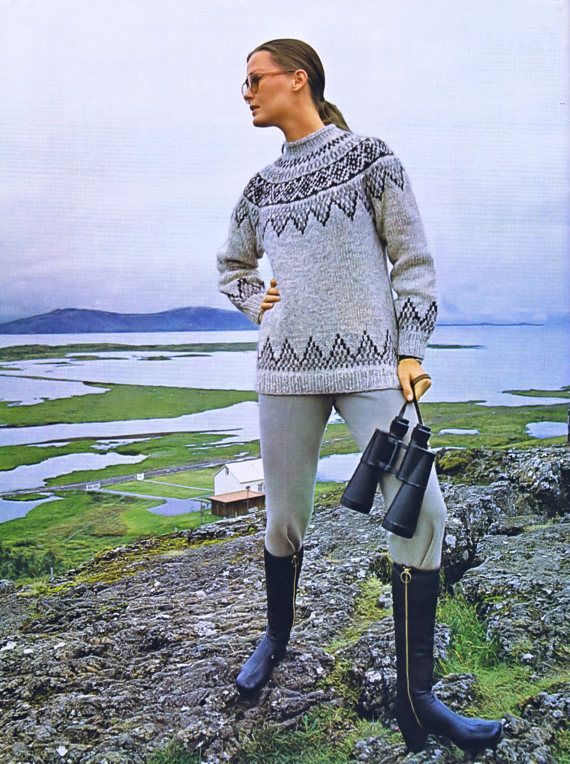 Vintage Maria Scandinavian Womans Knitted Sweater e-Pattern Womens Bust Sizes 30 to 44 inches Unisex Charts Included This listing is for one vintage knitting pattern available for instant download. 1970s Vintage e-Pattern Reproduction Pattern includes instructions for a Womans