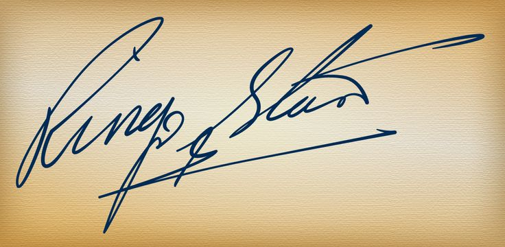 Ringo Starr (The Beatles). Image of autograph in png (transparent background) and eps (vector) formats can be downloaded at http://master28.ru/zagruzki/faksimile-znamenityh-lyudej Ринго Старр.Изображение подписи в форматах png (с прозрачным фоном) и eps (вектор) можно скачать по адресу http://master28.ru/zagruzki/faksimile-znamenityh-lyudej