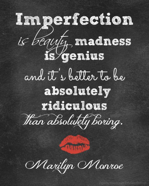 Free Marilyn Monroe printable #quotes #imperfectionisbeauty