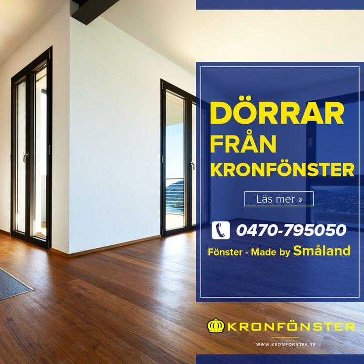Dörrar från Kronfönster - Made by Småland 🏡 💛  Dörrar från Kronfönster. Altandörrar, pardörrar och fönsterdörrar - designa din egen dörr!  #Dörrar #altandörr #vikdörrar #skjutdörrar #pardörrar #fönsterdörrar #Glasdörrar #Dörr  #Kronfönster  Läs mer » https://www.kronfonster.se/butiken/dorrar/