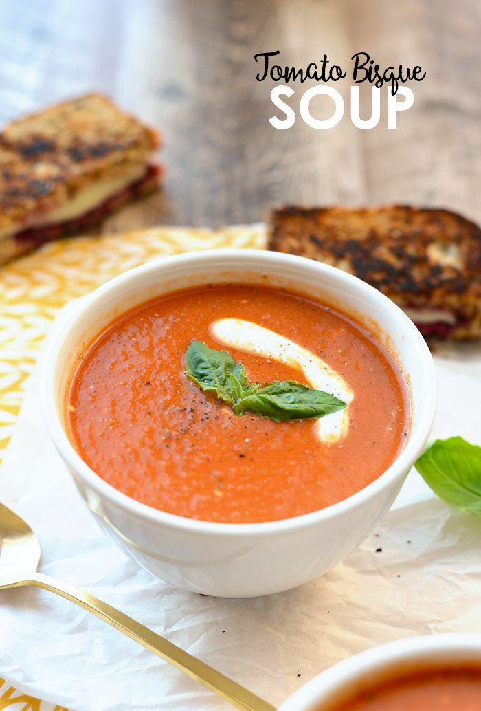Got 20 minutes? Yah, me too! Whip up this delicious and nutritious 20-Minute Tomato Bisque Soup made with seasonal ingredients and creamy Greek yogurt!