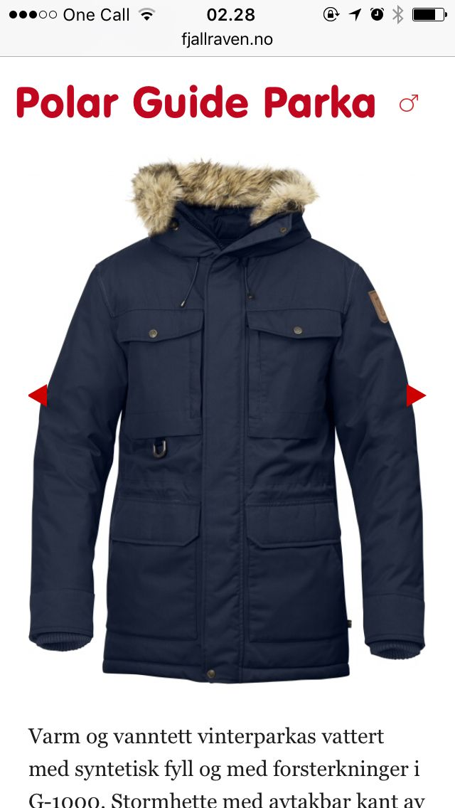 Night blue parka moscow