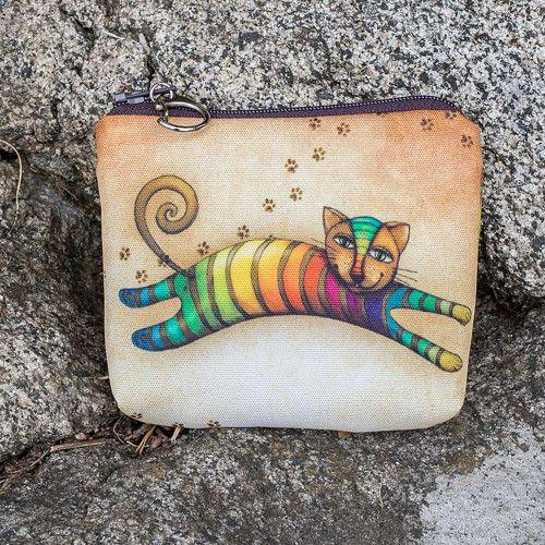 Peněženka - Duhová kočka