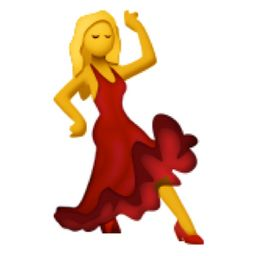 Red dress dancing emoji keyboard