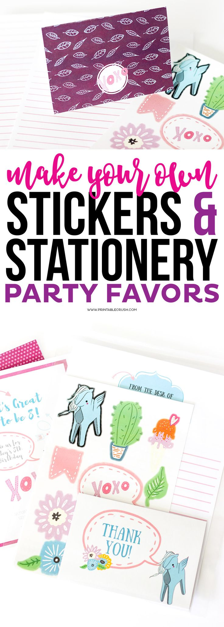 Bumper stickers design your own - Use Premade Graphics And The Cricut To Make Your Own Stickers And Stationery Party Favors