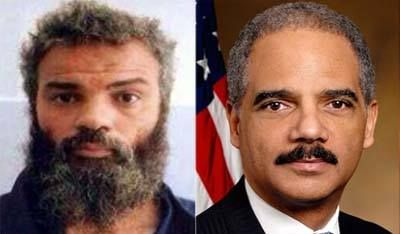 Hiding in Plain Site! Benghazi Terror Suspect Abu Khattala is Eric Holder - However, as we now know, the suspected terrorist had been hiding in the United States for years and working as Attorney General. The Libyan government confirmed suspicions on Friday that Eric Holder, is in fact Ahmed Abu Khatallah, from the Ansar al-Sharia terrorist organization.