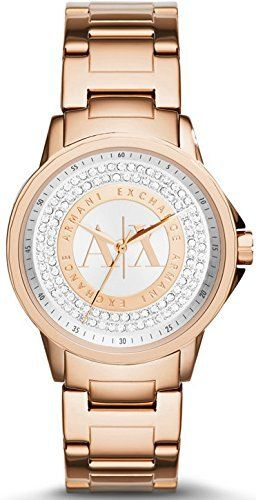 Armani Exchange Julietta Silver and Rose Dial Rose Gold-tone Ladies Watch AX4322  #Armani #AX4322 #dial #Exchange #Goldtone #Julietta #Ladies' #Rose #Silver #Watch MonitorWatches.com