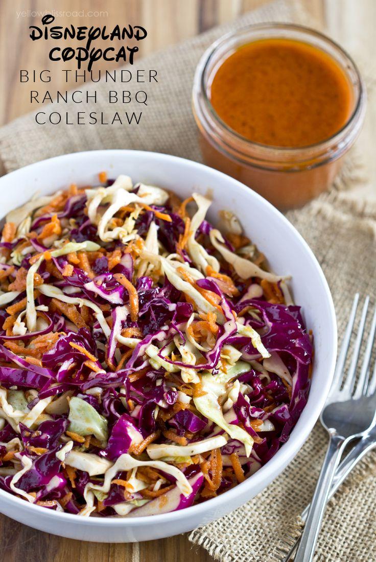 Disneyland's Big Thunder Ranch Copycat Coleslaw recipe - so delicious! Great salad recipe for summer!