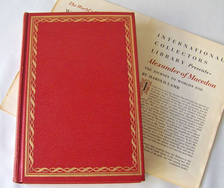 Vintage Book Alexander Of Macedon Alexander the Great Ancient Greek Kingdom Military Commander Red Hardcover Book 1946 by cynthiasattic on Etsy