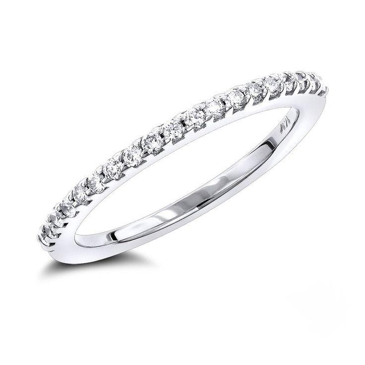 14K Gold Diamond Wedding Band for Women by Luxurman 0.35ct