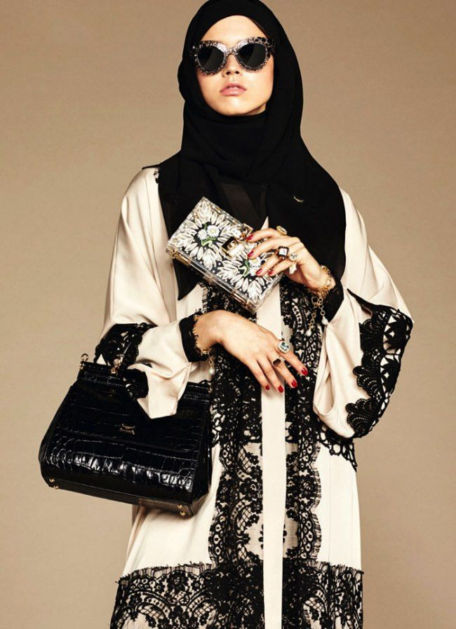 First Abaya and Hijab Collection by Dolce & Gabbana.