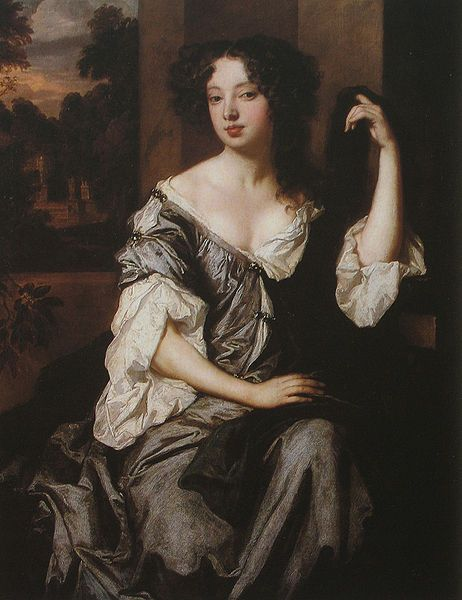 Louise Renee de Querouaille (artist: Peter Lely). Louise Renée de Penancoët de Kérouaille, Duchess of Portsmouth (6 September 1649 – 14 November 1734) was a mistress of Charles II of England. Through her son by Charles II, Charles Lennox, 1st Duke of Richmond, she is ancestress of both wives of Prince Charles: Diana, Princess of Wales, and Camilla, Duchess of Cornwall.