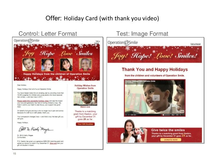 Offer Holiday Card (with thank you video) Control Letter Format - thank you letter after offer