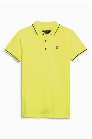 Fluro Yellow Piqué Poloshirt (3-16yrs)
