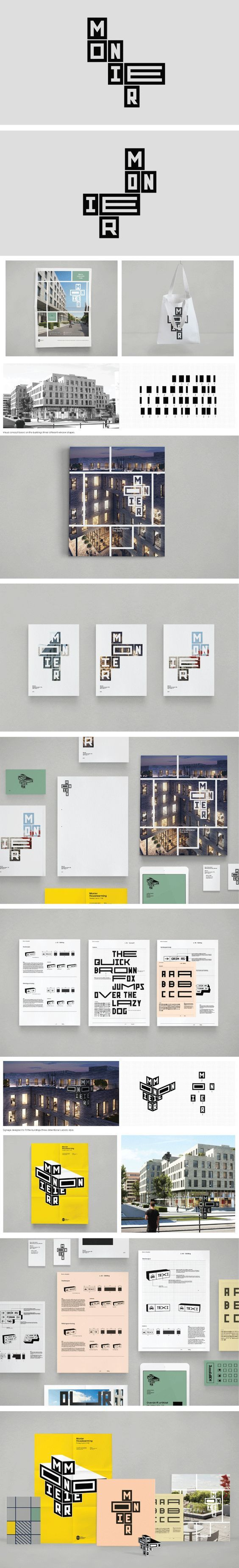 Bleed – Visual identity for Monier, an office building in Oslo:
