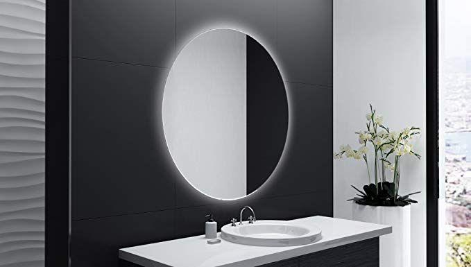 Badspiegel Designo Rund Mar113 Mit A Led Beleuchtung 70 Cm