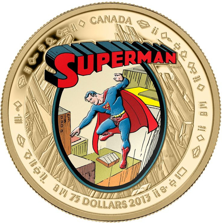 The first gold coin to carry Superman's image! $75 14-Kt. Gold Coin - Superman™: The Early Years - Mintage: 2,000 (2013). On September 9, 2013, the Mint unveiled seven new collector coins in celebration of the 75th anniversary of Superman.