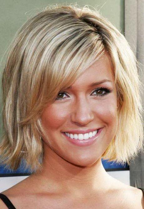 Frisur Halblang Gestuft Kinnlange Haare Frisuren Frisuren
