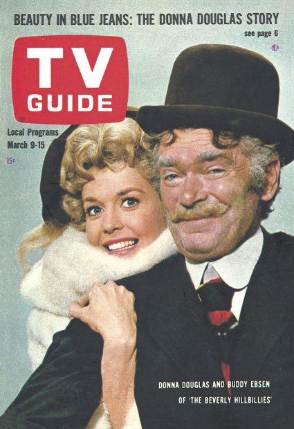 TV Guide Mar 9-15th 1963 (Donna Douglas and Buddy Ebsen of the Beverly Hillbillies)
