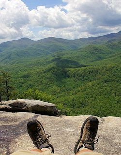 One of Top 50 Hikes near Asheville-Looking Glass Rock