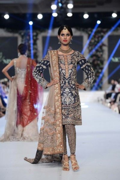 Nickie Nina Bridal Collection at PFDC Loreal Paris Bridal Week 2015 #pakistanifashion #nickienina #plbw2015 #pfdc2015 #bridalwear #bridaldresses #lehengacholi #salwarkameez #weddingdress #fashionshows #pakistanilatestfashion #luxuryclothing