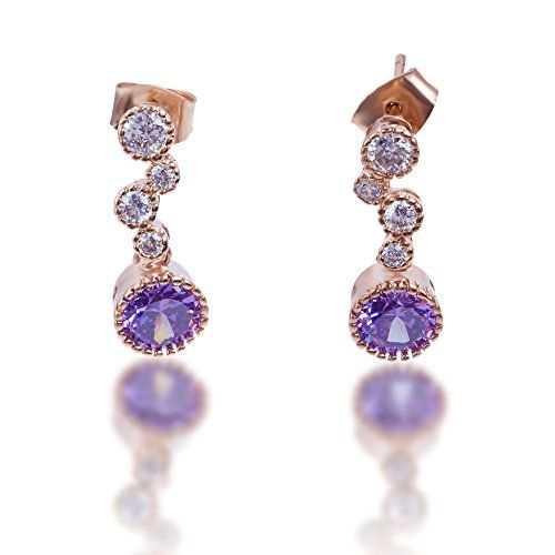 Elegant Gold Plated Purple Cubic Zirconia Pendant Earring... https://www.amazon.com/dp/B01MDVNIKG/ref=cm_sw_r_pi_dp_x_wKTOyb9NAZ00F