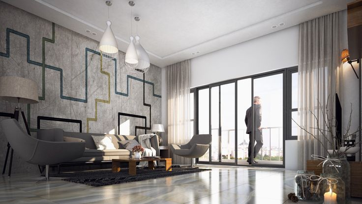 2, 3, 3.5BHK luxury apartments at affordable prices, Emmanuel Heights | RSP architect rendering of living area