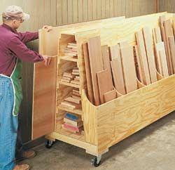 Carpintarias e Marcenarias - Armazenamento simples de Madeira | Wood Second Chance