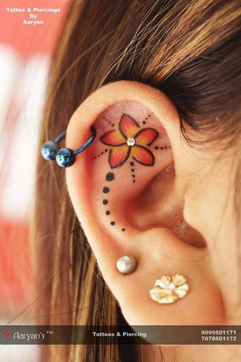 Best 25 ear tattoos ideas on pinterest small tattoos for Tattoos and piercing