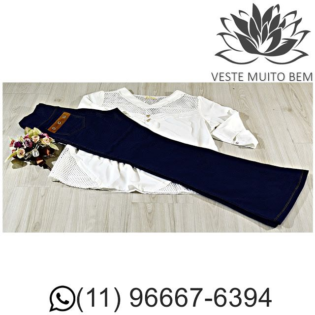 Bata com tela R$ 6500 (Somente loja física)  Calça Malha Jeans Flare R$ 9200 (Somante loja física ) #vestemuitobem #moda #modafeminina #modaparameninas #estilo #roupas #lookdodia #like4like #roupasfemininas #tendência #beleza #bonita #gata #linda #elegant #elegance